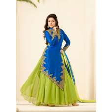 86001 BLUE AND GREEN NITYA PARTY WEAR DESIGNER SUIT