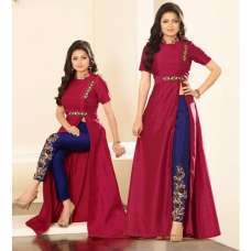 86007 RED AND BLUE NITYA PARTY WEAR DESIGNER SUIT
