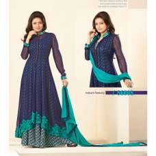 86008 BLUE NITYA GEORGETTE PARTY WEAR DESIGNER SUIT