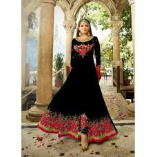 2301-D BLACK NITYA SLIT STYLE LONG ANARKALI DRESS