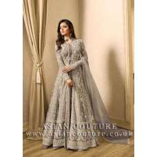 GREY INDIAN BRIDESMAID DRESS WEDDING GOWN