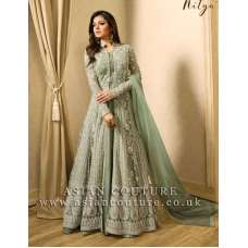 NILE GREEN INDIAN BRIDESMAID DRESS WEDDING GOWN