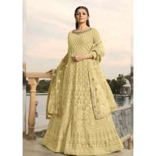 YELLOW INDIAN WEDDING PARTY ANARKALI GOWN