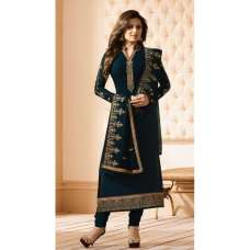 NAVY BLUE GEORGETTE INDIAN SALWAR KAMEEZ