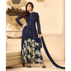88009 NAVY BLUE LT NITYA PARTY WEAR ANARKALI SUIT