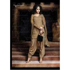 NKC2309 Gold Nakkashi EID AND  PARTY WEAR SUIT
