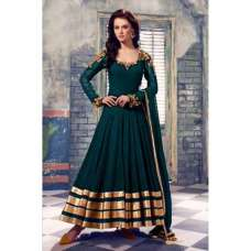 101-A GREEN QUEEN FLOOR LENGTH SEMI STITCHED ANARKALI SUIT