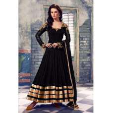 101-B BLACK QUEEN FLOOR LENGTH READYMADE STITCHED ANARKALI SUIT