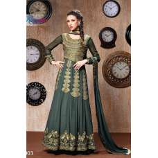 RANGSUTRA 7003 GREY GEORGETTE ANARKALI STYLE DRESS