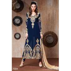 RANGSUTRA 7004 SNORKEL BLUE GEORGETTE ANARKALI STYLE SALWAR KAMEEZ DRESS