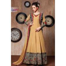 RANGSUTRA 7005 YELLOW GEORGETTE ANARKALI STYLE DRESS
