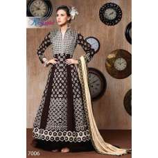 RANGSUTRA 7006 BROWN GEORGETTE ANARKALI STYLE DRESS