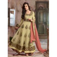 4105-C CREAM RANI DESIGNER ANARKALI DRESS