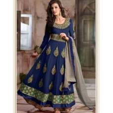 4105-F BLUE RANI DESIGNER ANARKALI DRESS