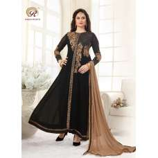 1033 BLACK RASHI PRINTS NOORANI HEAVY DESIGNER PARTY WEAR GEORGETTE SUIT