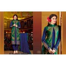 BLUE AND GREEN MARIA B STYLE PAKISTANI SUIT
