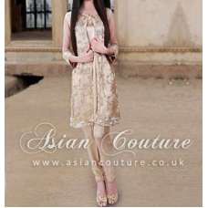 SKIN COLOUR CHIFFON READY MADE OUTFIT