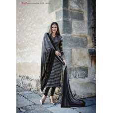 WHITE BLACK ROMA CREPE SALWAR KAMEEZ SUIT (PLEASE NOTE THE DESIGN OF SUIT IS COMPLETELY DIFFRENT TO MODEL IMAGE HENCE THE PRICE )