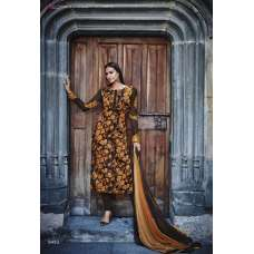 R6493 BROWN AND ORANGE ROMA FASHIONS CREPE SALWAR KAMEEZ SUIT