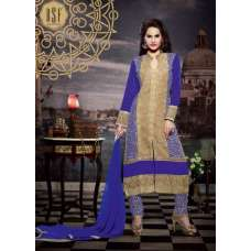 10111 BLUE STUNNING MUSK VOL 2 SEMI STITCHED SUIT