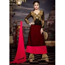 10116 BLACK AND RED STUNNING MUSK VOL 2 SEMI STITCHED SUIT