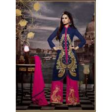 10120 BLUE AND PINK STUNNING MUSK VOL 2 SEMI STITCHED SUIT