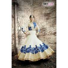 5510 OFF WHITE SAFEENA HOT LADY EMBROIDERED ANARKALI SUIT