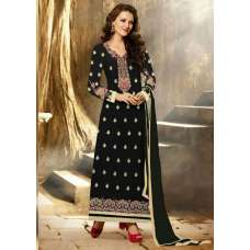 Stunning Black Aarya Party Wear Georgette Salwar Kameez