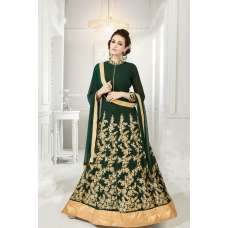 DARK GREEN FLOOR LENGTH ANARKALI GOWN