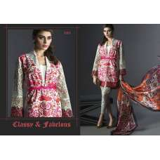 1001 FLORAL PALE DOGWOOD PINK AND GREY DEEPSY DESIGNER LUXURY GEORGETTE SUIT