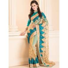 ACS-20 NET AND LACE SAREE WITH SILK FULL SLEEVE BLOUSE (READY MADE)