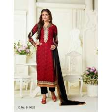 5002 RED AND BLACK SHAZIYA PARTY WEAR SALWAR KAMEEZ SUIT