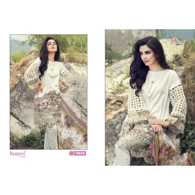 e3c50b04bf 7012 WHITE RANGREZ PREMIUM EMBRIODERED SALWAR SUIT