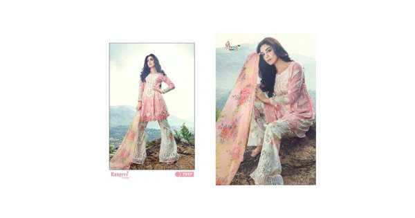 b9f9e194e7 7017 PINK AND WHITE RANGREZ PREMIUM EMBRIODERED SALWAR SUIT