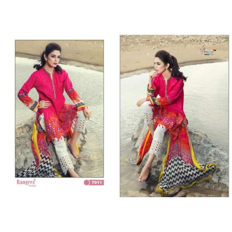 78ec759c1f 7011 dark pink and white rangrez premium embriodered salwar suit