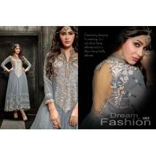Princess Simayaa 1003 Grey Wedding Wear Anarkali Dress