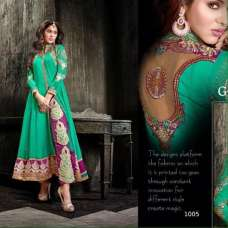 Princess Simayaa 1005 Green Wedding Wear Anarkali Dress