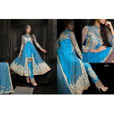 Princess Simayaa 1007 Blue Wedding Wear Anarkali Dress