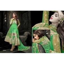 Princess Simayaa 1009 Green Flash Wedding Wear Anarkali Dress