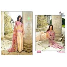 1003 PINK AND BEIGE SOBIA NIZAR EMBRIODERED READYMADE SALWAR SUIT