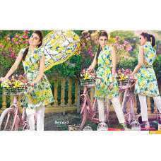 1225 FLORAL PRINTED AND EMBROIDERED CAMBRIC COTTON SUIT