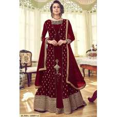 RED GEORGETTE INDIAN JACKET STYLE PARTY WEAR