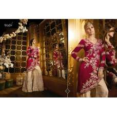 S43 RED AND BEIGE BLOSSOM SYBELLA DESIGNER DRESS