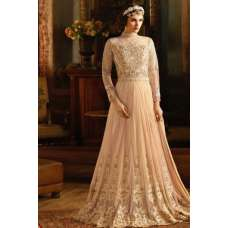 S-67 PEACH SYBELLA ANGELLIQUE WEDDING WEAR DRESS