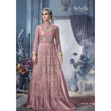 S-84 PURPLE SYBELLA HEAVY EMBROIDERED WEDDING WEAR DRESS