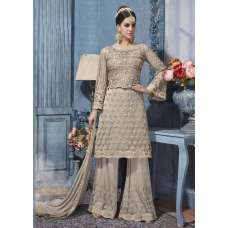 S-86 GREY SYBELLA HEAVY EMBROIDERED WEDDING WEAR DRESS