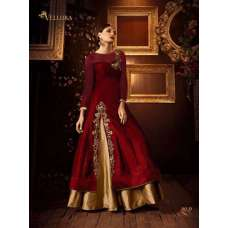 103-D RED AND GOLD VELLORA PREMIUM SILK EMBROIDERED READY MADE LEHENGA (LARGE SIZE)