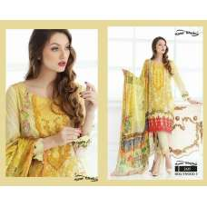 2615 YELLOW BOLLYWOOD 3 BY YOUR CHOICE PAKISTANI COTTON SALWAR KAMEEZ