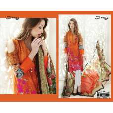 2614 ORANGE AND RED BOLLYWOOD 3 BY YOUR CHOICE PAKISTANI COTTON SALWAR KAMEEZ