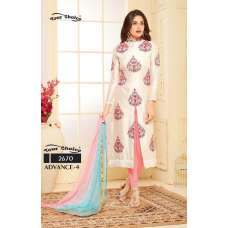 WHITE EMBROIDERED READY MADE SALWAR SUIT